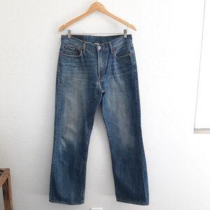 LUCKY Blue Relaxed Straight Leg Denim Jeans 32
